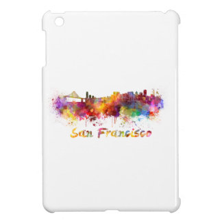 San Francisco skyline in watercolor Cover For The iPad Mini