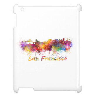 San Francisco skyline in watercolor iPad Case