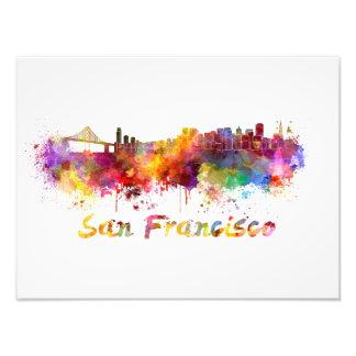 San Francisco skyline in watercolor Photo Print