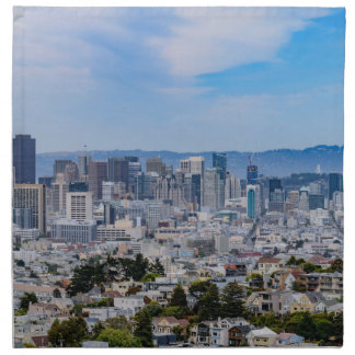 San Francisco Skyline Napkin