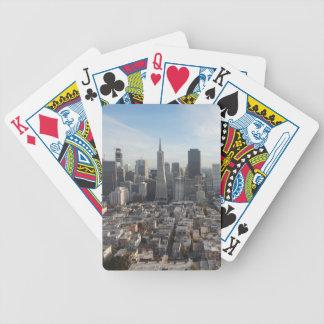 San Francisco Skyline Panorama Bicycle Playing Cards