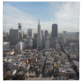 San Francisco Skyline Panorama Cloth Napkins