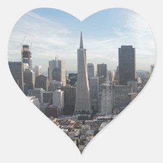 San Francisco Skyline Panorama Heart Sticker
