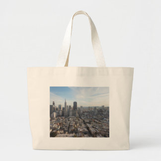 San Francisco Skyline Panorama Large Tote Bag