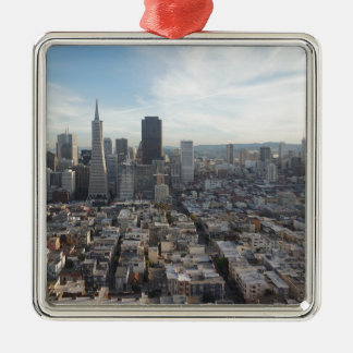 San Francisco Skyline Panorama Metal Ornament