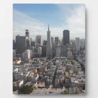San Francisco Skyline Panorama Plaque