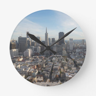 San Francisco Skyline Panorama Round Clock
