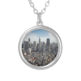 San Francisco Skyline Panorama Silver Plated Necklace