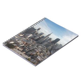 San Francisco Skyline Panorama Spiral Notebook