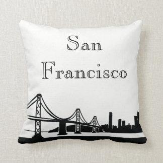 San Francisco Skyline Silhouette Front/ Xray Back Throw Pillow