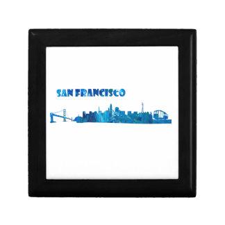 San Francisco Skyline Silhouette Gift Box