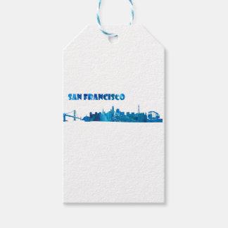 San Francisco Skyline Silhouette Gift Tags