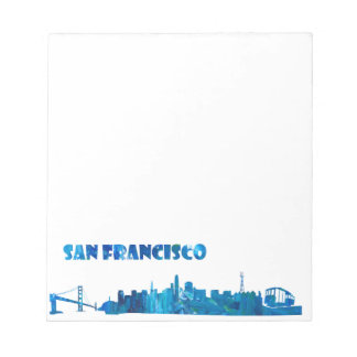 San Francisco Skyline Silhouette Notepad