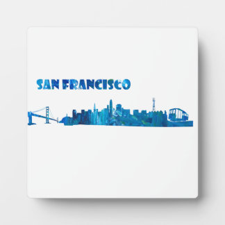 San Francisco Skyline Silhouette Plaque