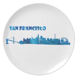 San Francisco Skyline Silhouette Plate