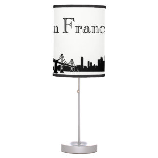 San Francisco Skyline Silhouette Table Lamp
