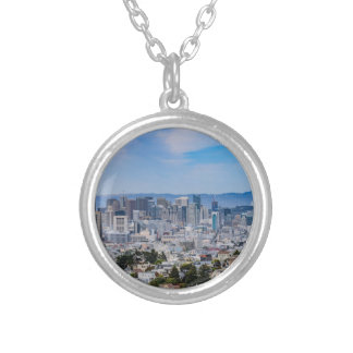 San Francisco Skyline Silver Plated Necklace