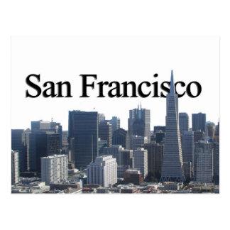 San Francisco Skyline w/ San Francisco in the Sky Postcard