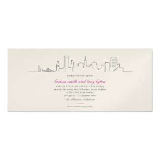 San Francisco Skyline Wedding or Dinner Invitation
