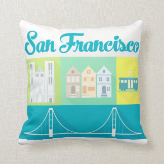 san francisco souvenir pillow cushion