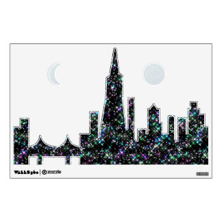 San Francisco Sparkling Skyline Wall Decal