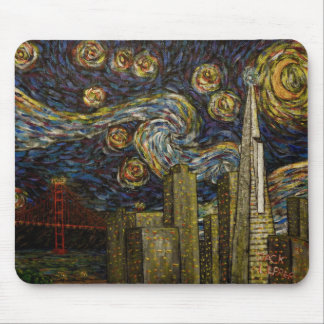 San Francisco Starry Night Mouse Pad