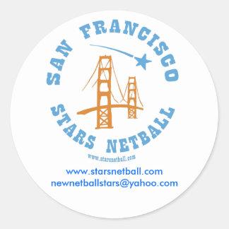 San Francisco Stars Netball Club Round Sticker
