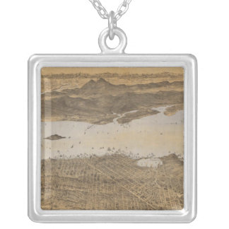 San Francisco, surrounding country Silver Plated Necklace
