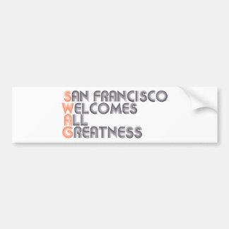 San Francisco Swag Retro Bumper Sticker