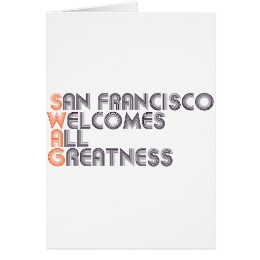 San Francisco Swag Retro Greeting Card