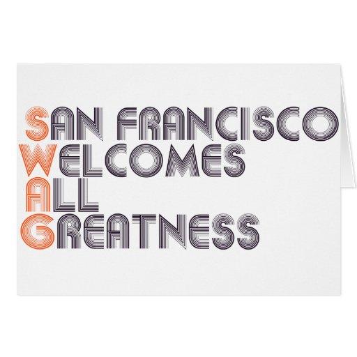 San Francisco Swag Retro Greeting Cards