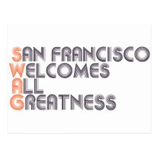 San Francisco Swag Retro Postcard