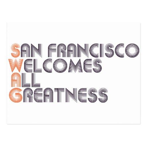 San Francisco Swag Retro Post Cards