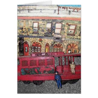 San Francisco Trolley Car And The Western Hotel Card