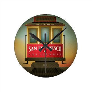 San Francisco Trolley Round Clock