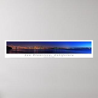 San Francisco Twilight Panorama Poster