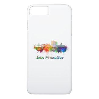 San Francisco V2 skyline in watercolor copy iPhone 8 Plus/7 Plus Case