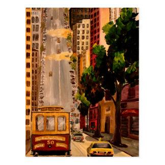 San Francisco Van Ness Cable Car Postcard