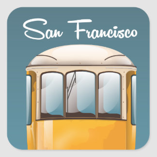 San Francisco vintage travel travel poster Square Sticker