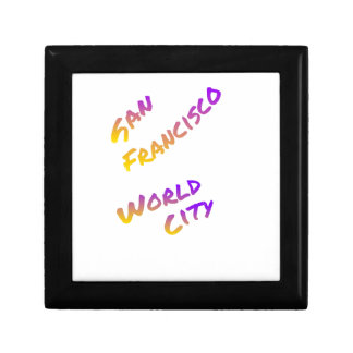 San Francisco world country,  colorful text art Gift Box