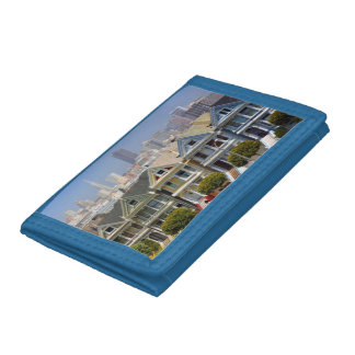 San Francisco's Famous Painted Ladies Tri-fold Wallets