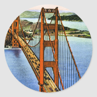 San Francisco's Golden Gate Bridge Classic Round Sticker