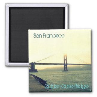 San Francisco's Golden Gate Bridge Square Magnet