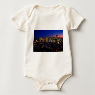 San Fransico Nighjt Skyline Baby Bodysuit
