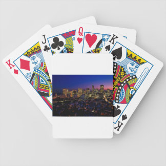 San Fransico Nighjt Skyline Bicycle Playing Cards