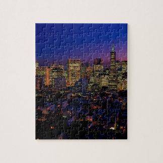 San Fransico Nighjt Skyline Jigsaw Puzzle