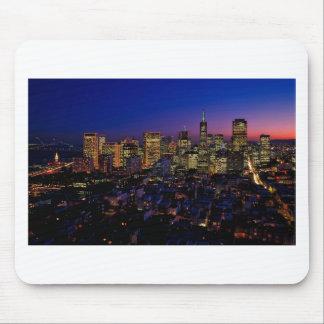 San Fransico Nighjt Skyline Mouse Pad