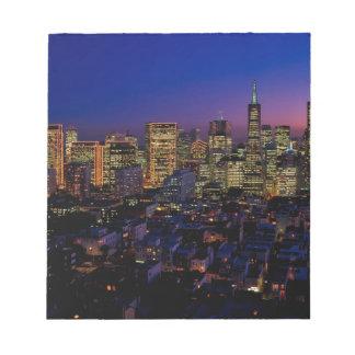 San Fransico Nighjt Skyline Notepad
