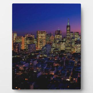 San Fransico Nighjt Skyline Plaque