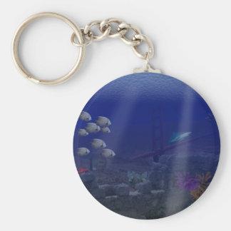 San Fransisco Underwater Keychain